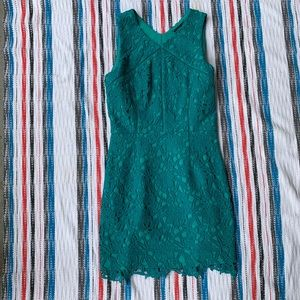 Greylin Teal Lace Dress